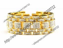 bracelet gold style images Buy hip hop bling bracelet gold tone iced out jpg
