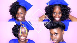 nursing graduation hairstyles with cap natural hair graduation styles youtube