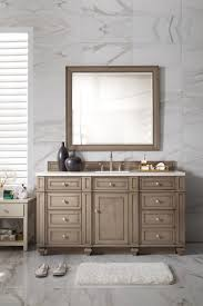 60 inch antique single sink bathroom vanity whitewashed walnut finish