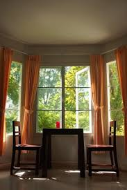 Modern Bay Window Curtains Decorating Awesome Window Treatments For Bow Windows In Living Room Pics