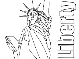 new york statue liberty for coloring get coloring pages