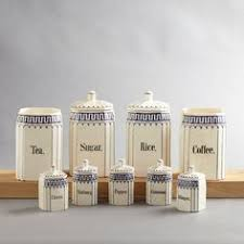 vintage ceramic kitchen canisters set of 4 vintage kitchen canisters white metal aluminium