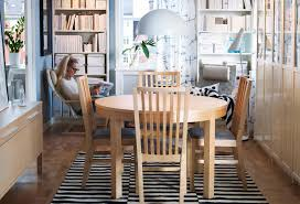 Ikea Table And Chairs A Dining Room With A Black Dining Table And - Dining room ideas ikea