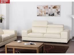 vente unique com canapé vente unique promo canapé 3 places cuir supérieur empereur ii blanc