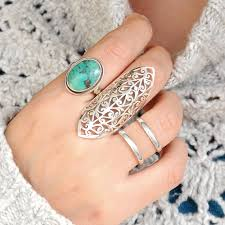 jewelry large rings images Filigree long ring chunky statement jewelry 925 sterling etsy jpg