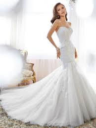 wedding dress 2015 mermaid wedding dress with sweetheart neckline and back corset