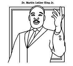 Martin Luther King Coloring Pages Printable Color Images Free Of Mlk Coloring Pages