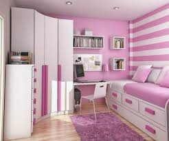 Purple High Gloss Bedroom Furniture Bedroom Exquisite White Stained Wall Surface Light Wooden
