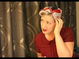 1940s bandana hairstyles how to tie a 1940s headscarf youtube