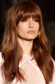 hair styles cut hair in layers and make curls or flicks love the color and cut maybe more blunt and less layers though