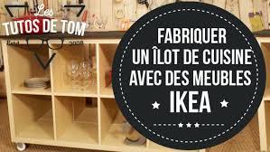 construire ilot central cuisine diy fabriquer un îlot de cuisine avec des meubles ikea