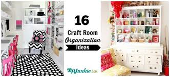 Pink Craft Room - 16 ways to organize your craft room tip junkie