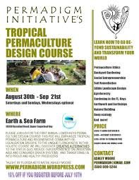 tropical permaculture design course offered key west the newspaper