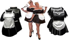 French Maid Halloween Costumes Black U0026 White French Maid Costume Size U0026 Supersize