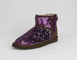 womens ugg boots purple s sparkles mini purple boots