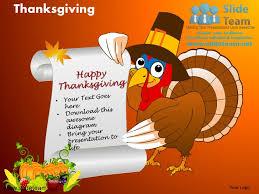 happy thanksgiving turkey celebrations powerpoint slides