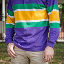 mardi gras sweater mardi gras rugby shirt purple with stripes new orleans