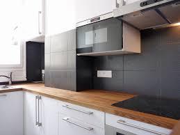 credence cuisine sur mesure ikea cuisine bois fresh cuisine ikea blanche et bois galerie et