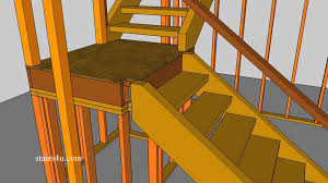 Stairs With Landing by Build 4 X 4 Landing Newel Post Into Framing For Stronger