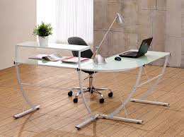elagant glass l shaped desk with hutch u2014 rs floral design use an