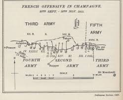 Champagne France Map by Second Battle Of Champagne