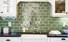 green kitchen backsplash geometric tile backsplash home designs idea