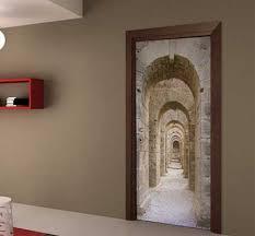 adesivi porta passaggio antico adesivo in canvas artistico per porta