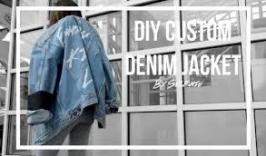 diy custom denim jacket youtube