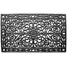 Wrought Iron Rubber Doormat Overstock Made Of Heavy Duty Rubber With Thick Scrollwork That