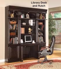 Desk Hutch Bookcase Parker House Venezia Library Desk U0026 Hutch Bookcase Wall Home