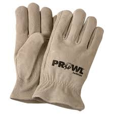 custom imprinted sturdy suede leather gloves from promotional gloves
