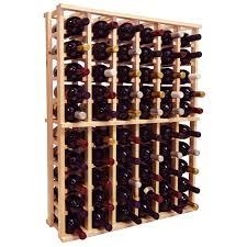country pine series 208 bottle solid bin wine rack hayneedle