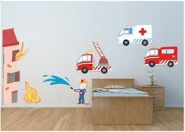chambre garcon pompier stickers et autocollants pompier pour chambre enfant etiquette