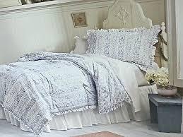 6p simply shabby chic twin comforter set blue rose ruffle rachel