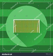 soccer goal icon on game field stock illustration 357284393