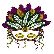 fancy mardi gras mardi gras mask with gorgeous feathers applique machine embroidery
