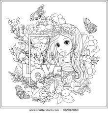 young nice princess crown garden stock vector 566436322