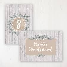 winter wonderland table numbers winter wonderland wedding table names numbers sarah wants stationery