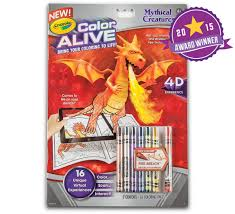 color alive mythical creatures crayola