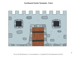 free diy cardboard castle for kids build your own cardboard castle