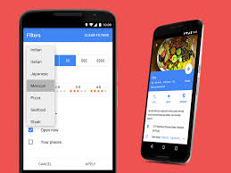 filters for android maps on android can now filter your food related searches