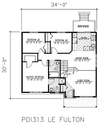 sample bungalow house floor plan
