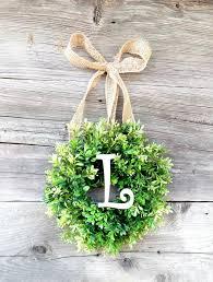 mini monogram boxwood wreath mini wreath scented window