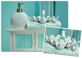 aqua colored bathroom accessories teal bathroom decor etsy gray