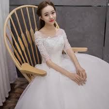 korean wedding dress 2017 korean wedding dress shoulder v collar new autumn
