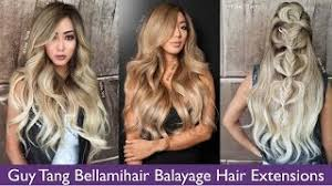 bellamy hair extensiouns bellami balayage guy tang extensions review vloggest