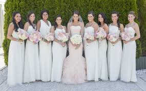 Pink Bridesmaid Dresses What Colour Bridesmaids Dresses With Pink Wedding Gown Wedding