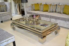large glass coffee table terano square polished chrome coffee table f d interiors ltd