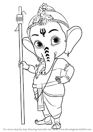 step by step how to draw bal ganesh drawingtutorials101 com