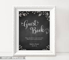 Wedding Signs Template Guest Book Sign Wedding Guest Book Sign Printable Guest Book